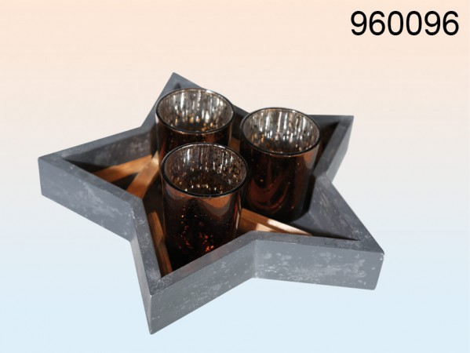960096 Draht-Lichterkette mit 40 warmweißen LED & Timer, L: ca. 4 m, für 3 Mignon Batterien (AA) in PVC-Box, nur für den Innenbereich geeignet, 3840/PAL