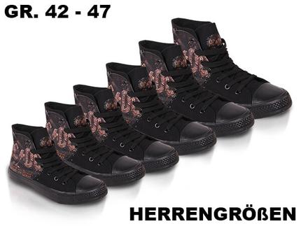 SHO-004 Sortierung AC/DC Schuhe Sneakers  Rock or bust  Herrengrößen 42 - 47