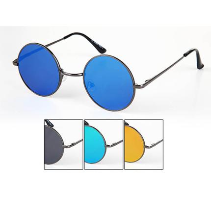 V-1302 VIPER Damen und Herren Sonnenbrille Form: Retro Flat Glass Brille Farbe: silber, rose gold und gunmetal sortiert