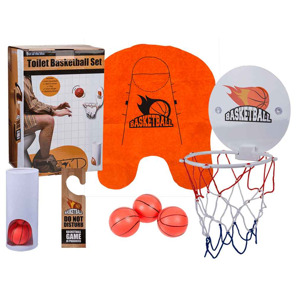 59-1961 Toiletten-Basketball-Set, 7-teilig, ca 26 cm, 216/PAL