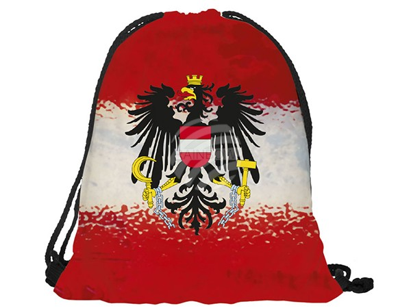 RU-AT Gymbag, Gymsac Design: Österreich Farbe: rot, weiss