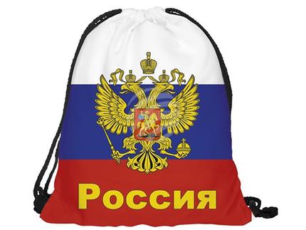 RU-RUS Gymbag, Gymsac Design: Russland Farbe: weiss, blau, rot