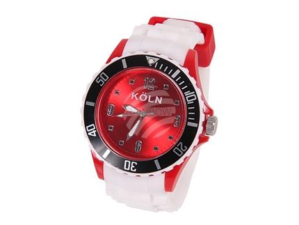 UR-256 Uhren Armbanduhren Städteuhren Fanartikel Köln weiß Ø ca. 4,4 cm