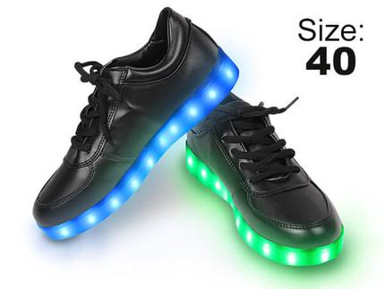 SHO-020 LED Schuhe Farbe: schwarz, Größe: 40
