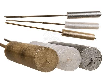 939120 Bambus-Gartenfackel, Kerze, metallic-finish, ca. 66 x 4,5 cm, 3-farbig sortiert