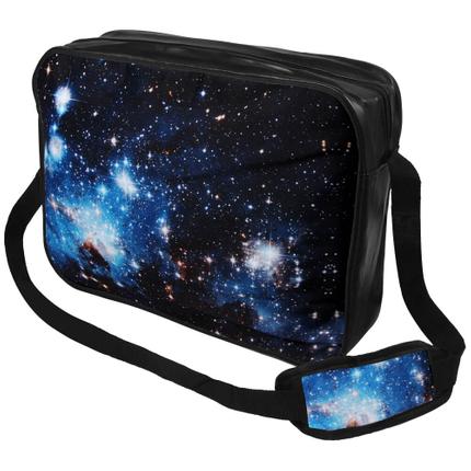 MEB-017 Messenger Bag Motiv: Galaxy blau Farbe: schwarz, blau
