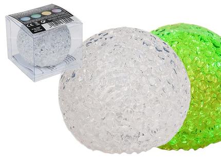 950051 Deko-Kunststoffball mit farbwechselnder LED (inkl. Batterie) ca. 6 cm, in PVC-Box, 3360/PAL