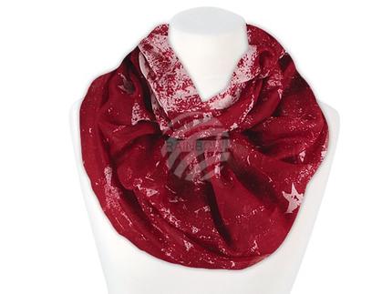 SCH-1111d Damen Loop Schal Sterne rot