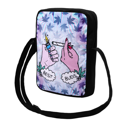 MEB-k029 Messenger Bag Tasche Umhängetasche schwarz Best Buds