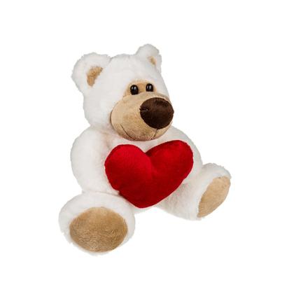 61-6923 Plüsch-Bär mit rotem Herz, Big Love, ca. 20 cm, 288/PAL