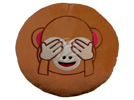 KI-30a Kissen Emoticon Emotikon  Affen-nichts sehen