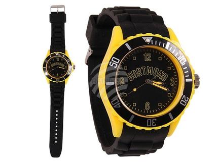 UR-259 Uhr Dortmund, schwarz, gelb Städteuhren Länderuhren Silikonuhren 4,4 cm