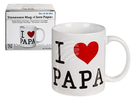 78-8236 Steingut-Becher, I love Papa, ca. 10 x 8 cm, 864/PAL
