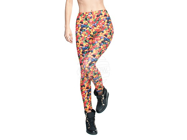 LEG-038 Damen Motiv Leggings Design:Bonbons Farbe: multicolor