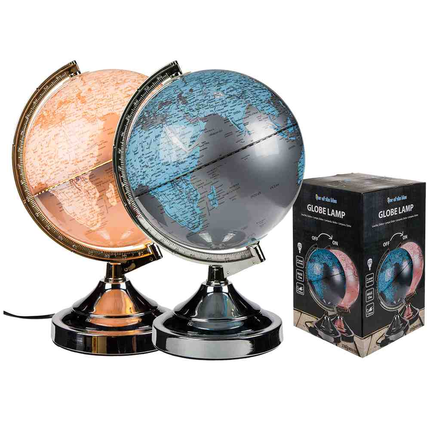 57-1283 Kunststoff-Leuchte, Globus, H: ca. 31 cm, E14 - max. 15W, 220-240V, GS, 80/PAL