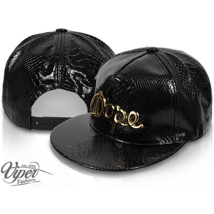 CAP-123 Snapback Flatbrim Cap  Luxury Dope  Farbe: schwarz mit 3D Emblem