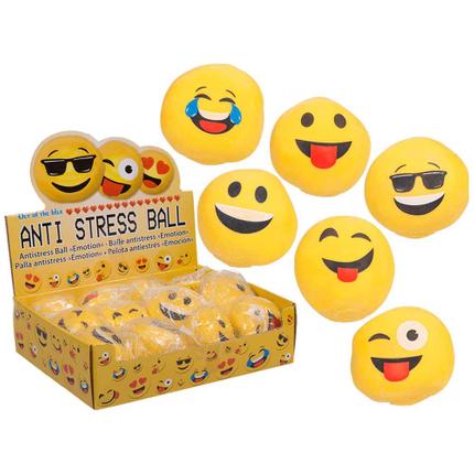 12-0944 Antistress-Ball, Emotion, ca. 6 cm, im Netz mit Headercard, 12 Stück im Display, 4536/PAL