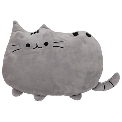 KI-53 Emoticon Kissen Katze grau