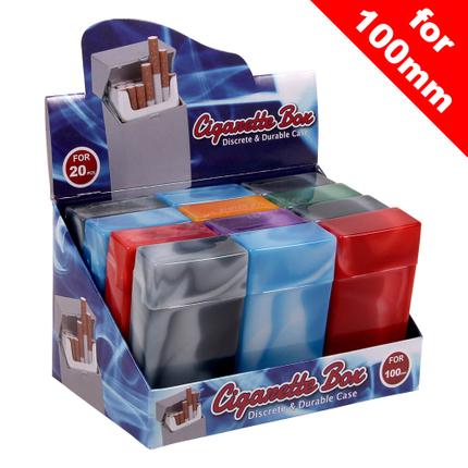 ZB-004 Zigaretten Box Marmoriert für Zigarettenschachtel mit ca. 20 Stk. 100er (long) Zigaretten