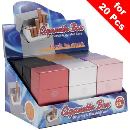 ZB-009 Zigaretten Box Metallic Optik für Zigarettenschachtel mit ca. 20 Stk. Standard Zigaretten