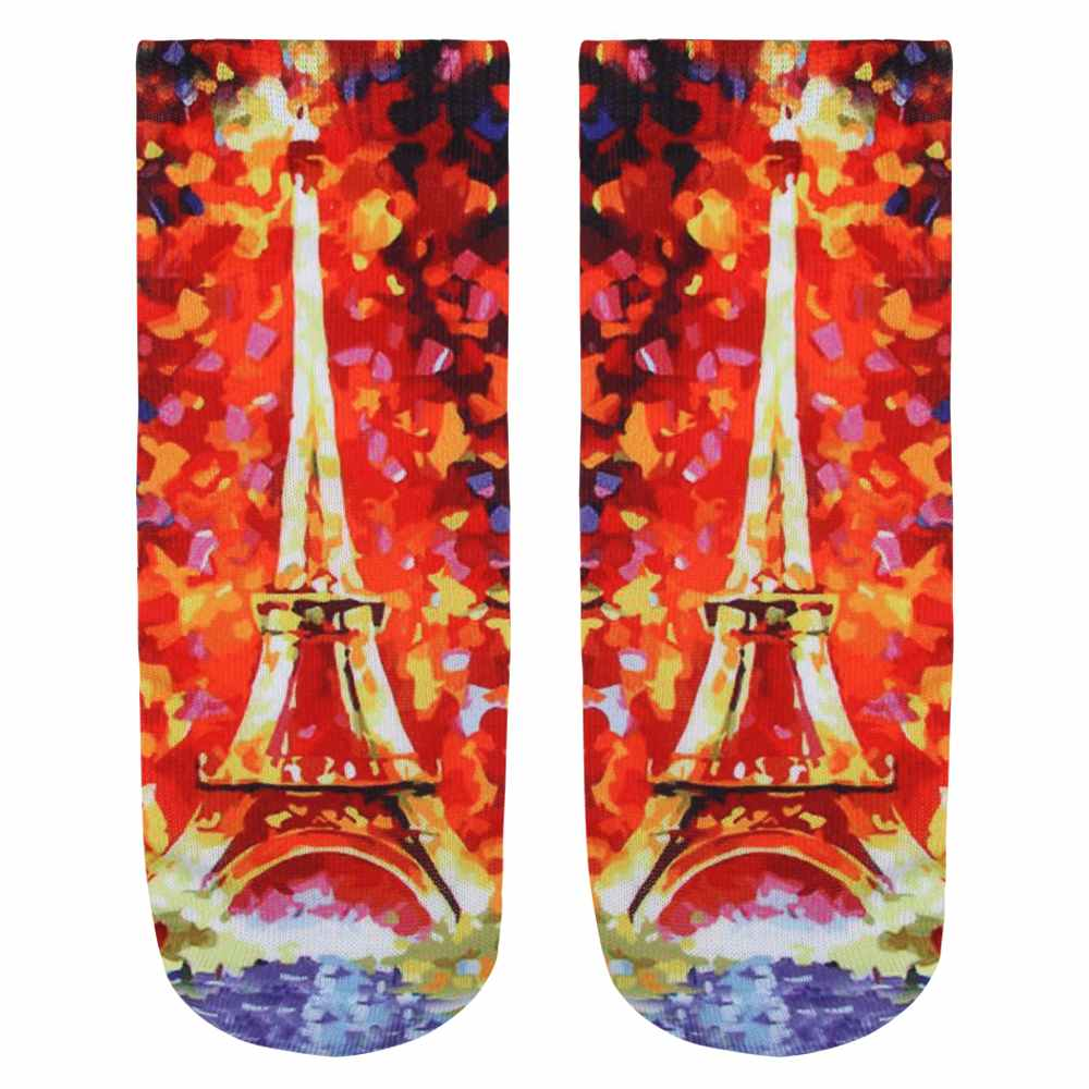 SO-L030 Motiv Socken Eiffelturm multicolor