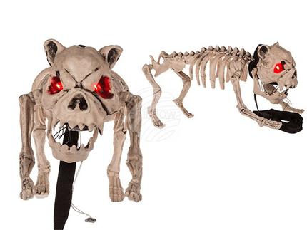 98-2066 Halloween-Figur, Hundeskelett, mit Licht & Sound (inkl. Batterien) ca. 40 cm