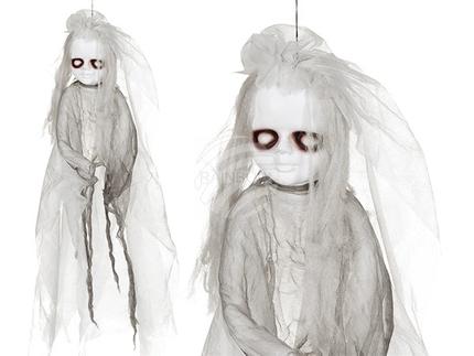 98-2072 Halloween-Figur, Horrorpuppe I, mit Licht (inkl. Batterien) ca. 90 cm, zum Aufhängen