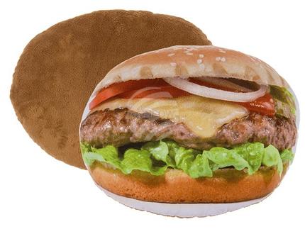 32-2039 Deko-Kissen, Hamburger, 100% Polyester, ca. 33 cm, ca. 225 g Füllgewicht