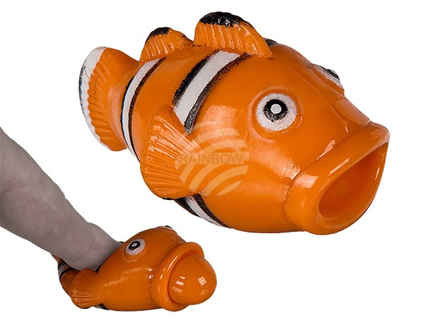 12-0937 Squeeze-Clownfisch, Pop Tongue, ca. 7 cm, 12 Stück im Display, 5760/PAL