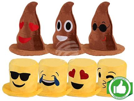 PACK-056 Starterpaket 35 Stück Emoticon Karneval Hüte
