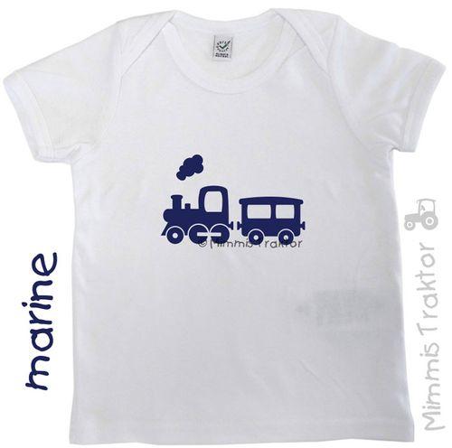 Mimmis Traktor® Bügelbild Zug Lokomotive 13 x 7,5 cm MARINE – Bild 2