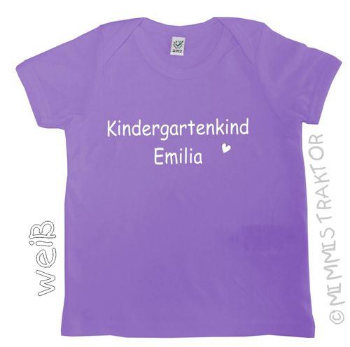 Mimmis Traktor® Bügelbild Kindergartenkind + Name 16 cm – Bild 2