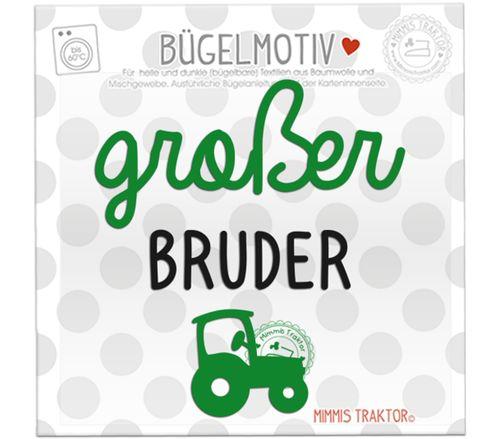 Mimmis Traktor® Bügelbild großer Bruder mit Traktor