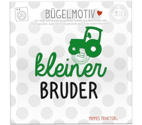Mimmis Traktor® Bügelbild kleiner Bruder mit Traktor