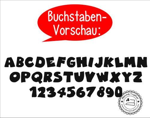 Mimmis Traktor® Bügelbild Wunschname Gr. M max. 15,5 cm x 6 cm (B x H) Graffiti – Bild 9
