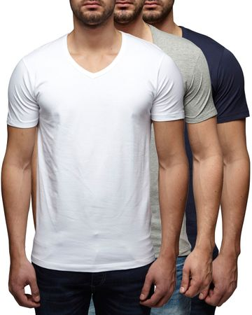 3er Pack - Jack & Jones V-Neck Basic T-Shirt 12059219 – Bild 6