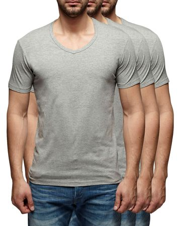 3er Pack - Jack & Jones V-Neck Basic T-Shirt 12059219 – Bild 2
