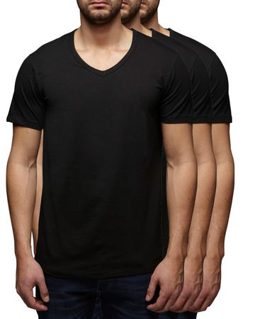 3er Pack - Jack & Jones V-Neck Basic T-Shirt 12059219 – Bild 3