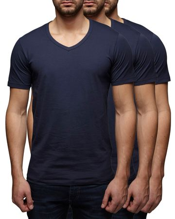 3er Pack - Jack & Jones V-Neck Basic T-Shirt 12059219 – Bild 4