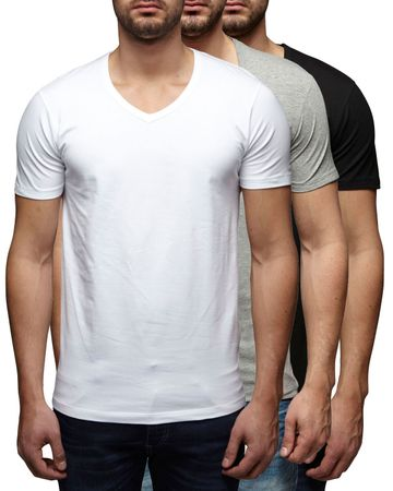 3er Pack - Jack & Jones V-Neck Basic T-Shirt 12059219 – Bild 5