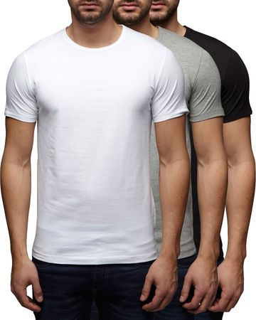 3er Pack - Jack & Jones O-Neck Basic T-Shirt 12058529 – Bild 5