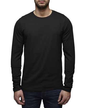 Jack & Jones O-Neck Basic Langarm T-Shirt 12059220 – Bild 3