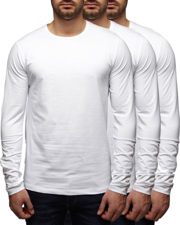 3er Pack - Jack & Jones O-Neck Basic Langarm T-Shirt 12059220