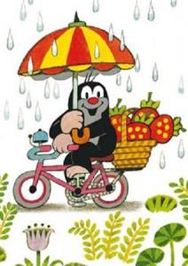 """Der kleine Maulwurf - """"auf dem Fahrrad"""" 001"""
