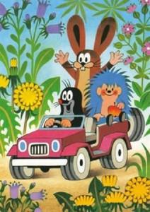 """Der kleine Maulwurf - """"mit Hase und Igel im Auto"""""""