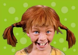Pippi Langstrumpf lacht