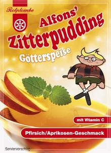Alfon´s Zitterpudding mit Pfirsisch/Aprikosen-Geschmack