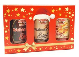 Frohe Weihnachten Kiste Altenburger Senf 3 Sorten