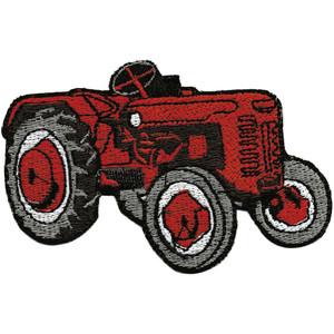 Aufnäher - Traktor rot