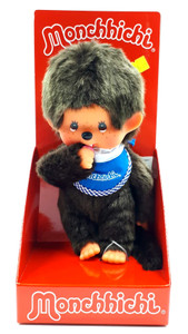 Monchhichi Puppe Junge blau